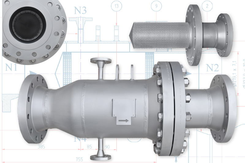 tubular pipe filters strainers stainless manufacturer