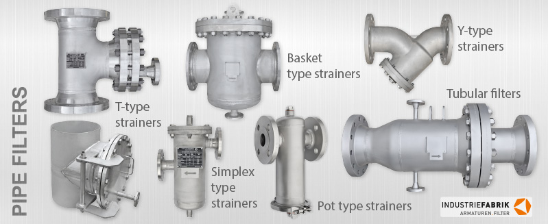 pipe tubular filter basket pot simplex type strainers