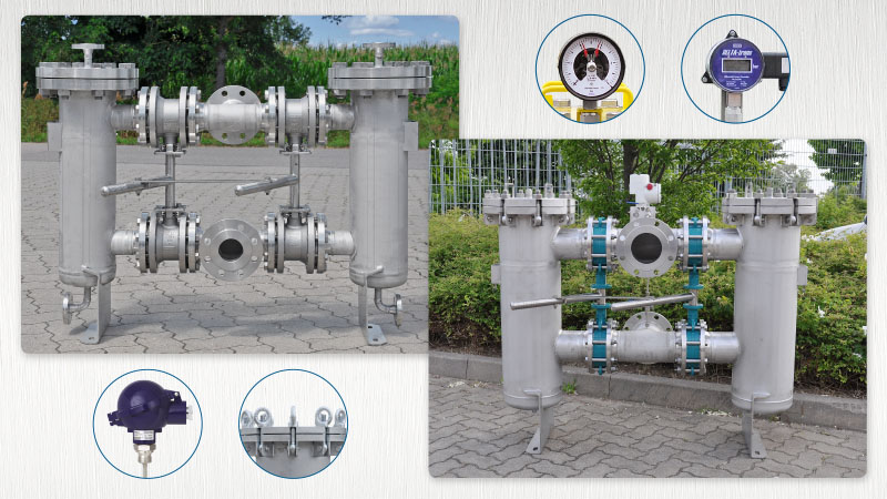 duplex double strainer type df doppelfilter