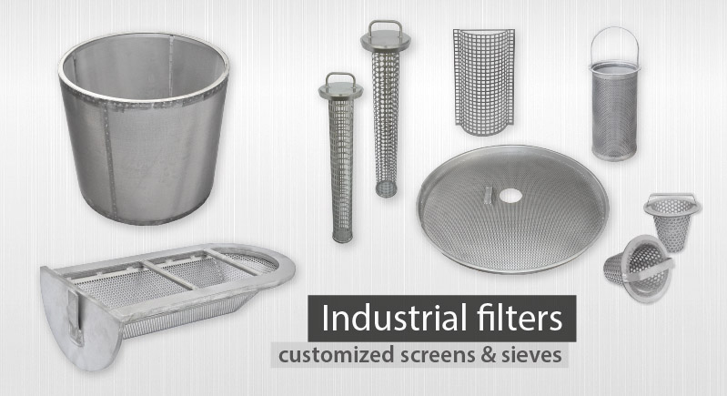 industrial filters replacement screens manufacturer strainers