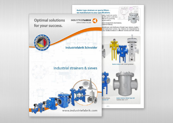 Calalogue Industrial strainers, filters and sieves, PDF