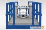 Doppelfilter Edelstahl DN150, gestellmontiert mit Anfahr- / Rammschutz