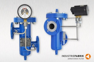 Simplex strainer Type EF, steel, DN50 with differential pressure indicator and magnetic spring contact type 821