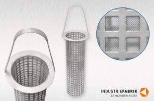 Filtereinsätze für Industrieanlagen / Ersatzsiebe für Korbfilter und Schmutzfänger