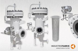 Hochdruckfilter Stahl, DN150 CL400 (68 bar), mit Differenzdruck-Messumformer Typ DPGT43HP (WIKA)